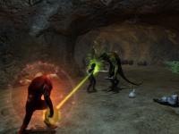 Screenshot: Höhlenkampf